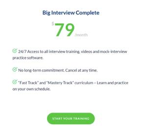 big interview pricing